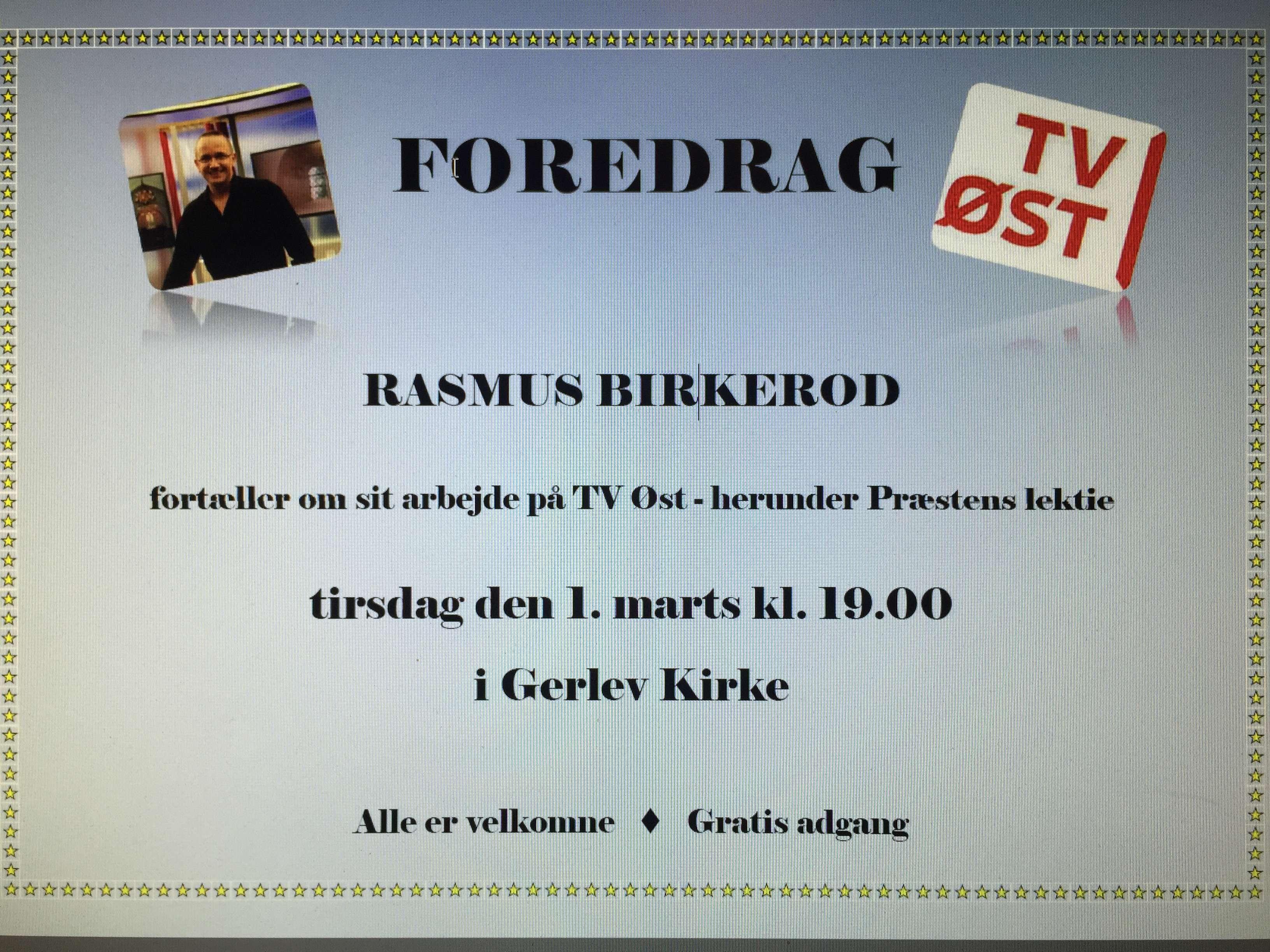 Foredrag med Rasmus Birkerod