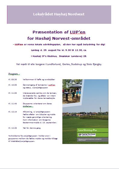 Indbydelse til præsention af LUPèn den 29 aug 2015
